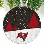 Tampa Bay Buccaneers Snow Scene Ornament