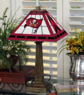 Tampa Bay Buccaneers Stained Glass Mission Table Lamp