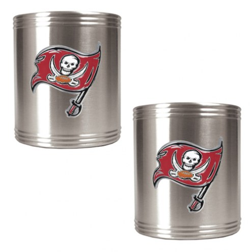Tampa Bay Buccaneers Stainless Steel Can Coozie Set
