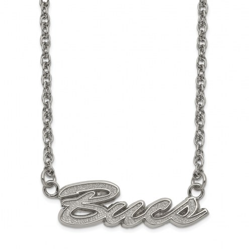 Tampa Bay Buccaneers Stainless Steel Script Necklace