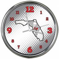 Tampa Bay Buccaneers State of Mind Chrome Clock