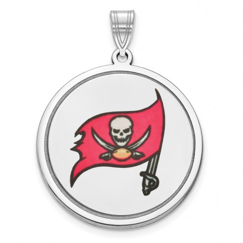 Tampa Bay Buccaneers Sterling Silver Disc Pendant
