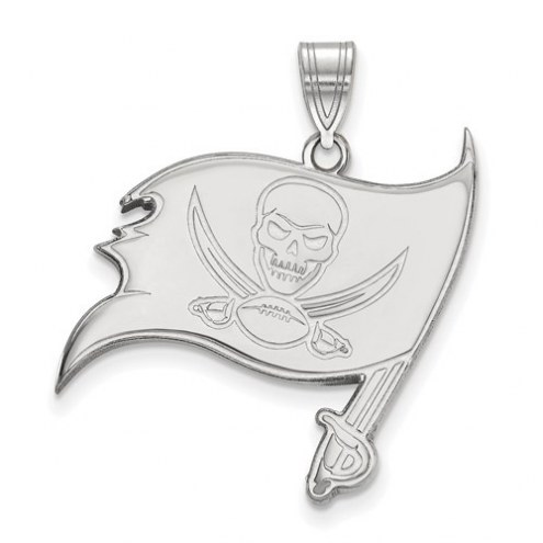Tampa Bay Buccaneers Sterling Silver Large Pendant