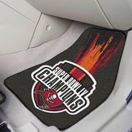 Tampa Bay Buccaneers Super Bowl LV Champions 2-Piece Carpet Car Mats