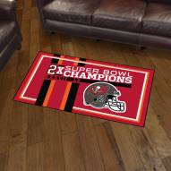 Tampa Bay Buccaneers Super Bowl LV Champions Dynasty 3' x 5' Area Rug