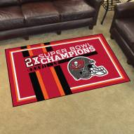 Tampa Bay Buccaneers Super Bowl LV Champions Dynasty 4' x 6' Area Rug