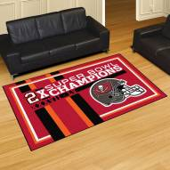 Tampa Bay Buccaneers Super Bowl LV Champions Dynasty 5' x 8' Area Rug