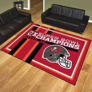 Tampa Bay Buccaneers Super Bowl LV Champions Dynasty 8' x 10' Area Rug