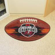 Tampa Bay Buccaneers Super Bowl LV Champions Football Floor Mat