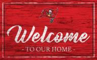 Tampa Bay Buccaneers Team Color Welcome Sign
