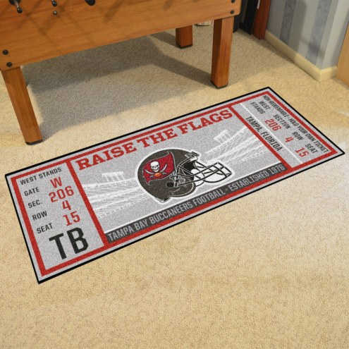 Tampa Bay Buccaneers Ticket Runner Rug