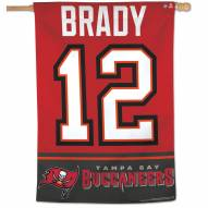 "Tampa Bay Buccaneers Tom Brady Vertical 28"" x 40"" Flag"