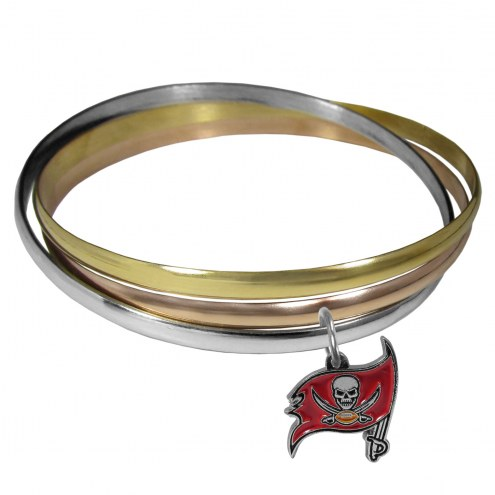 Tampa Bay Buccaneers Tri-color Bangle Bracelet
