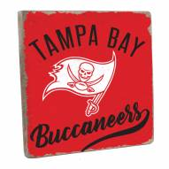 Tampa Bay Buccaneers Vintage Square Wall Sign