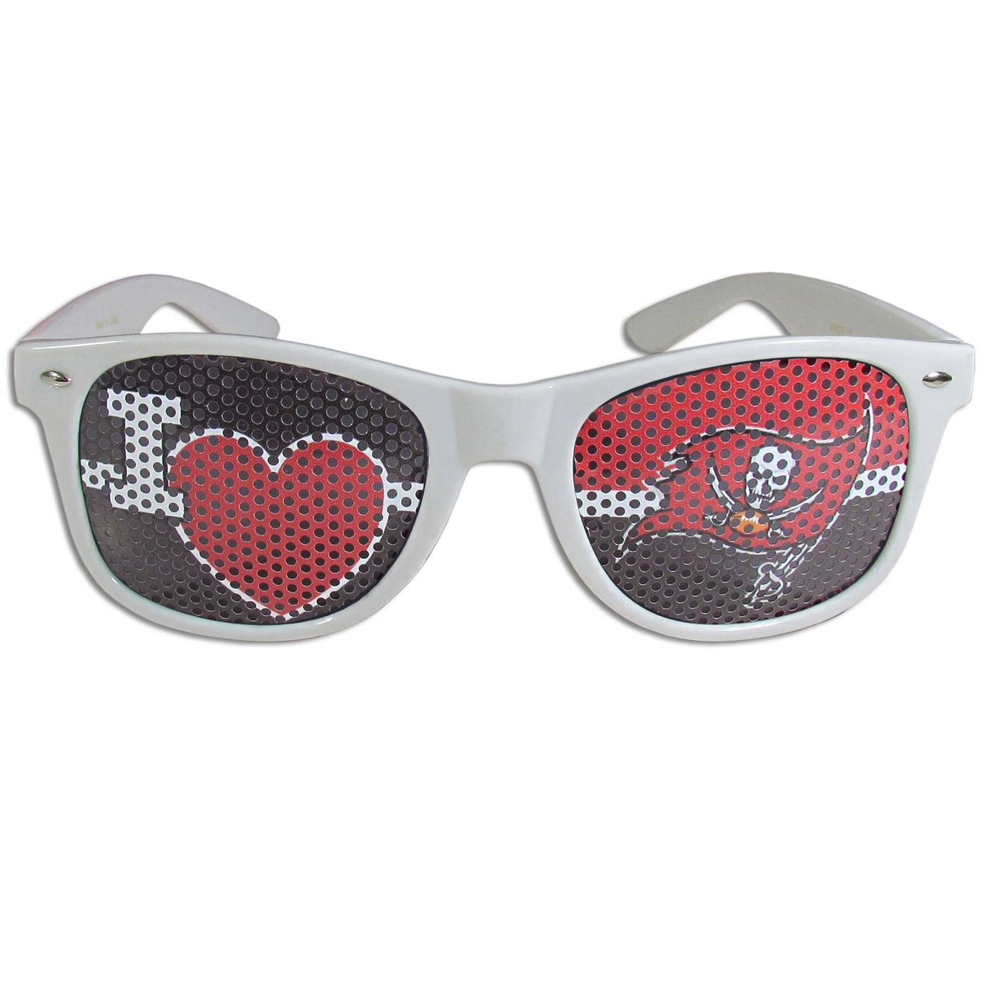 Tampa Bay Buccaneers White I Heart Game Day Shades
