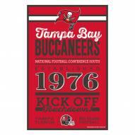Tampa Bay Buccaneers Established Wood Sign