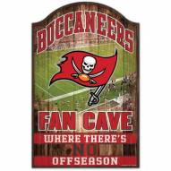Tampa Bay Buccaneers Fan Cave Wood Sign
