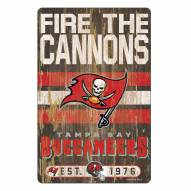 Tampa Bay Buccaneers Slogan Wood Sign