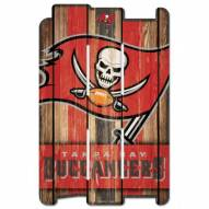 Tampa Bay Buccaneers Wood Fence Sign