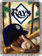 Tampa Bay Rays MLB Woven Tapestry Throw Blanket