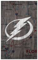 "Tampa Bay Lightning 11"" x 19"" City Map Sign"