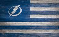 "Tampa Bay Lightning 11"" x 19"" Distressed Flag Sign"