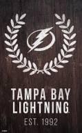 "Tampa Bay Lightning 11"" x 19"" Laurel Wreath Sign"