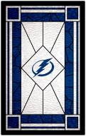 """Tampa Bay Lightning 11"""" x 19"""" Stained Glass Sign"""