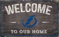 """Tampa Bay Lightning 11"""" x 19"""" Welcome to Our Home Sign"""