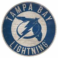 """Tampa Bay Lightning 12"""" Circle with State Sign"""