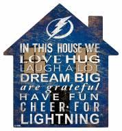 "Tampa Bay Lightning 12"" House Sign"