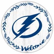 "Tampa Bay Lightning 12"" Welcome Circle Sign"