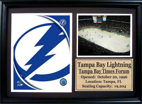 "Tampa Bay Lightning 12"" x 18"" Photo Stat Frame"
