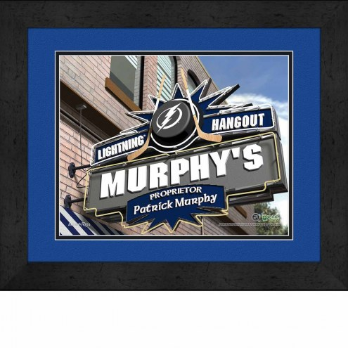 Tampa Bay Lightning 13 x 16 Personalized Framed Sports Pub Print