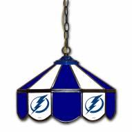 "Tampa Bay Lightning 14"" Glass Pub Lamp"