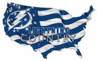 "Tampa Bay Lightning 15"" USA Flag Cutout Sign"