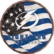 "Tampa Bay Lightning 16"" Flag Barrel Top"