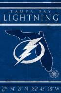"Tampa Bay Lightning 17"" x 26"" Coordinates Sign"