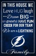 """Tampa Bay Lightning 17"""" x 26"""" In This House Sign"""