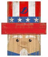 """Tampa Bay Lightning 19"""" x 16"""" Patriotic Head"""