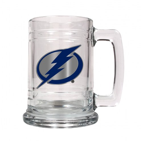 Tampa Bay Lightning 2-Piece 15 Oz. Glass Beer Mugs Set - Primary Logo