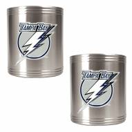 Tampa Bay Lightning 2-Piece Stainless Steel Can Koozie Set - Primary Logo