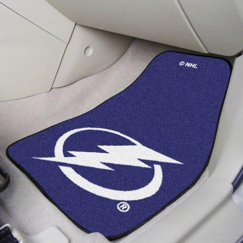Tampa Bay Lightning 2-Piece Carpet Car Mats