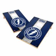 Tampa Bay Lightning 2' x 3' Vintage Wood Cornhole Game