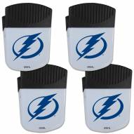 Tampa Bay Lightning 4 Pack Chip Clip Magnet with Bottle Opener