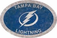"""Tampa Bay Lightning 46"""" Team Color Oval Sign"""