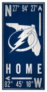 "Tampa Bay Lightning 6"" x 12"" Coordinates Sign"