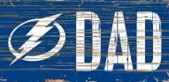 "Tampa Bay Lightning 6"" x 12"" Dad Sign"
