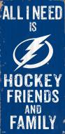 """Tampa Bay Lightning 6"""" x 12"""" Friends & Family Sign"""