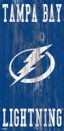 """Tampa Bay Lightning 6"""" x 12"""" Heritage Logo Sign"""